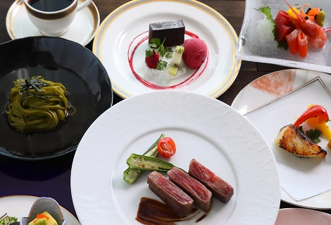 夕食はホテル12階椿山荘でゆったり   夕食和洋折衷会席&朝食付きプラン♪
