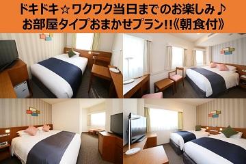 【室数限定!!】ドキドキ☆ワクワク当日までのお楽しみ♪お部屋タイプおまかせプラン!!《朝食付》