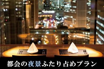 【高層階確約】都会の夜景をふたり占め★ディナー&レイトアウトプラン 1泊夕食付