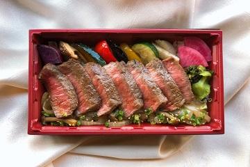 国産牛のステーキ重付きプラン【18時受渡し】≪夕食付≫