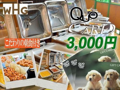 QUOカード3000円セット宿泊プラン【美味しい朝食ビッフェ付 丼・炊き込みごはん登場!】