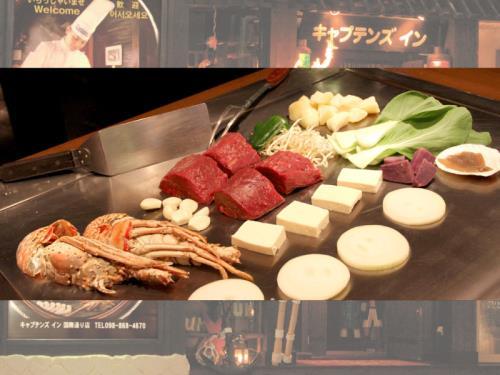 ☆夕朝食付き☆沖縄deステーキ!クッキングパフォーマンス「ステーキプレミアムディナー」+選べる丼朝食