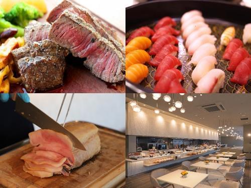 ステーキ・ローストポーク・寿司・食べ放題付き 1泊2食付プラン 全室独立型バスルームとWIFI無料