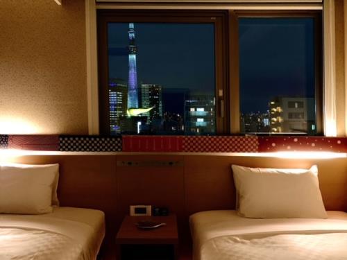 高層階確約!お部屋で浅草の夜景を堪能!ツインルーム禁煙≪素泊まり≫
